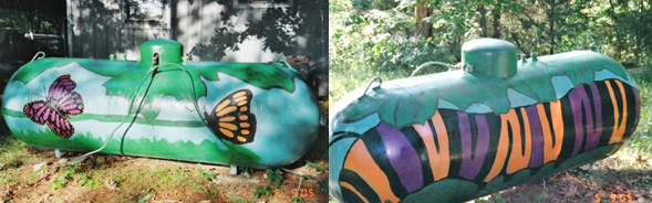 caterpillar propane tank Fuel Tank Art #2: Animal Tanks